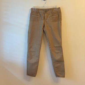 Anthropologie | Tan Cropped Pants